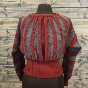 Vintage Striped accordion Sweater